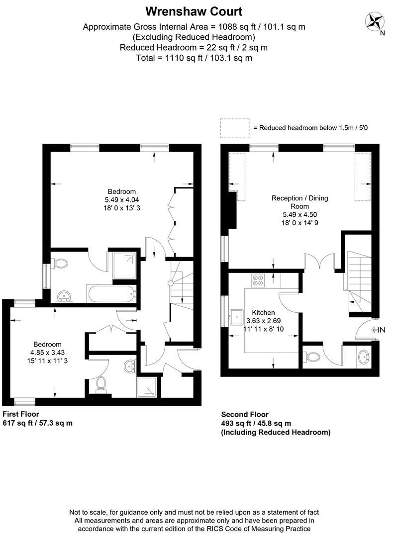 Floorplan for Wrenshaw Court, The Downs, Wimbledon